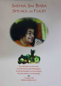 Sathya Sai Baba Speaks on food