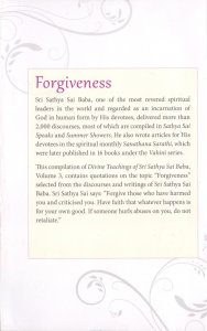 DIVINE TEACHINGS OF SRI SATHYA SAI BABA VOL 3 FORGIVENESS